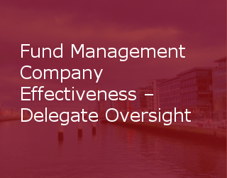 Update – Fund Management Company Effectiveness – Delegate Oversight