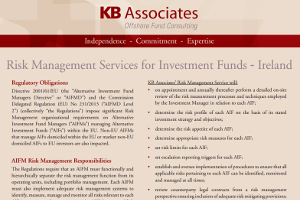 Risk Management Services For Investment Funds – Ireland