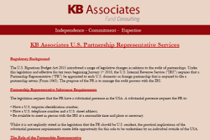 KB Associates U.S. Partnership Representative Services