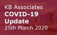 KB Associates COVID-19 Update 25th March 2020